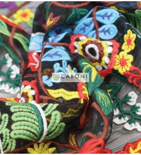 Tessuto Ricamato Floreale 78697